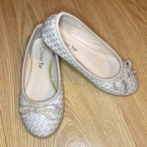 Lucky Top Basket Weave Bow Slip On Shoes
